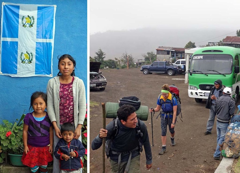Hike to Acatenango and Fuego eruption