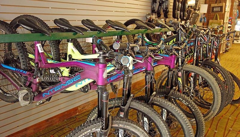 Excellent rental fleet selection Intense and Devinci s