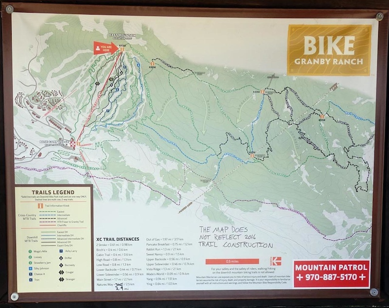 Granby Trail map