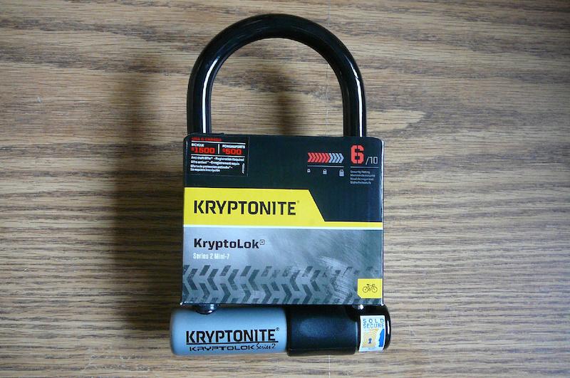 2016 kryptonite kryptolok series 2 mini 7 u lock x 7 for sale. Black Bedroom Furniture Sets. Home Design Ideas