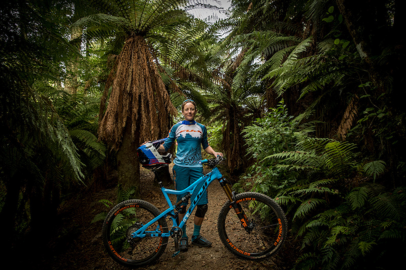 Meg Bichard and her new Fuji Auric in Rotorua