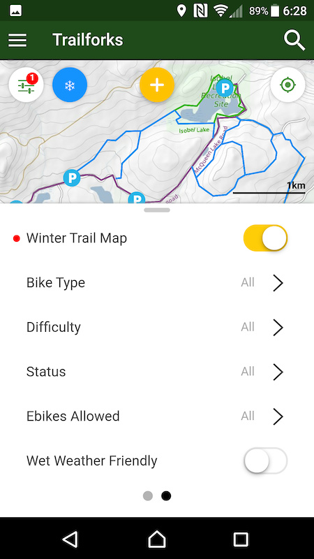 winter trail map