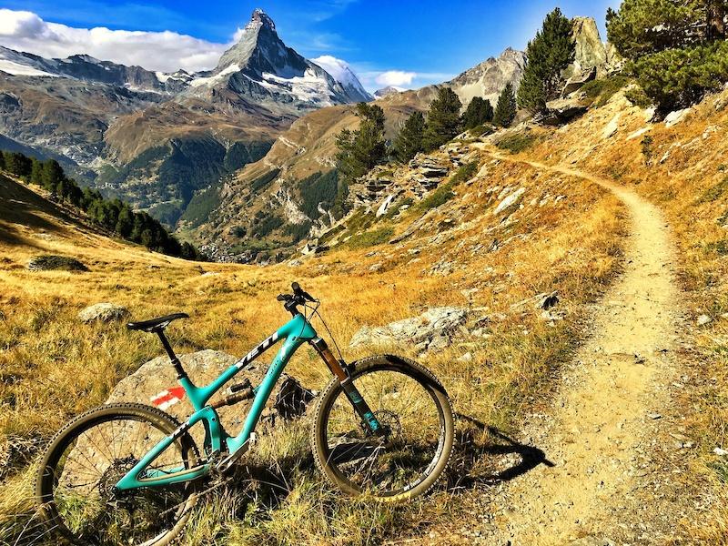Europaweg trail from Zermatt to T schalp Valais Switzerland. Epic Europe