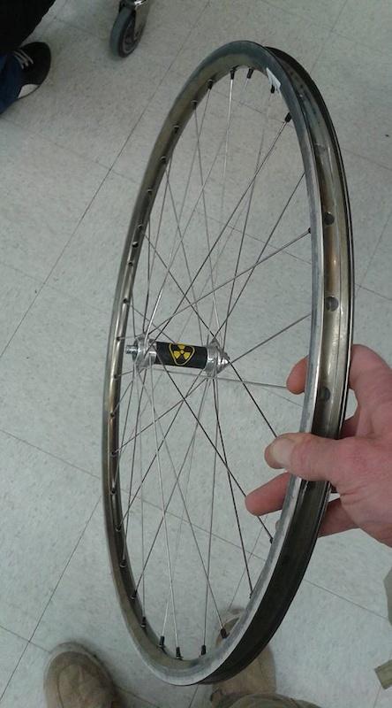1998 Vintage Nukeproof front wheel