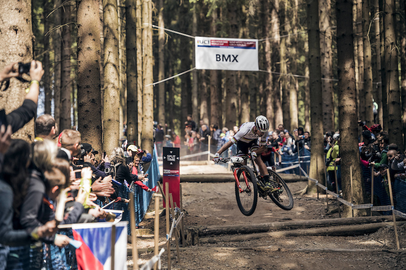 Nino Schurter race at UCI XCO World Cup in Nove Mesto Czech Republic on May 21st 2017 Bartek Wolinski Red Bull Content Pool P-20170521-01063 Usage for editorial use only Please go to www.redbullcontentpool.com for further information.