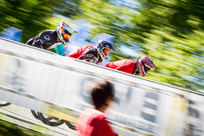 during round 2 of The 2017 4X Pro Tour at Winterberg Bike Park Winterberg Germany on May 26 2017. Photo Charles A Robertson