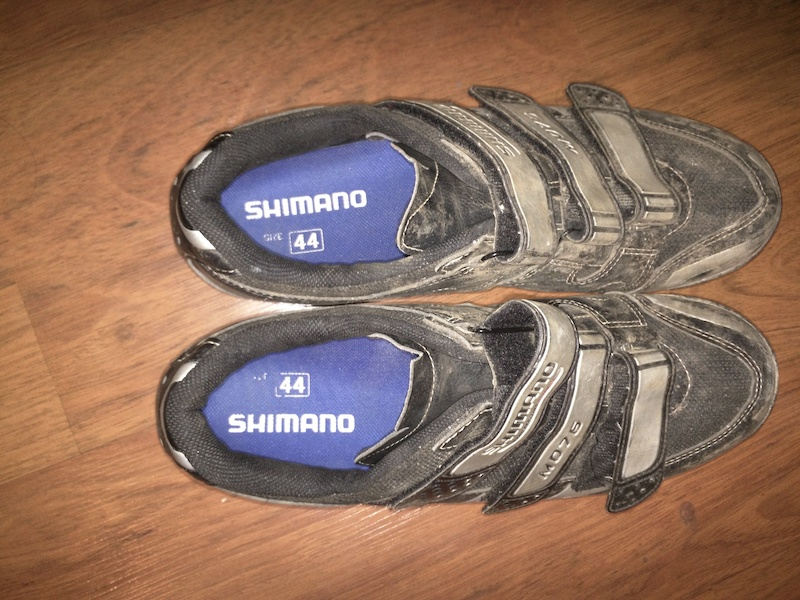 dd09ddd8742 Shimano M076 SPD shoes + cleats size 44 For Sale