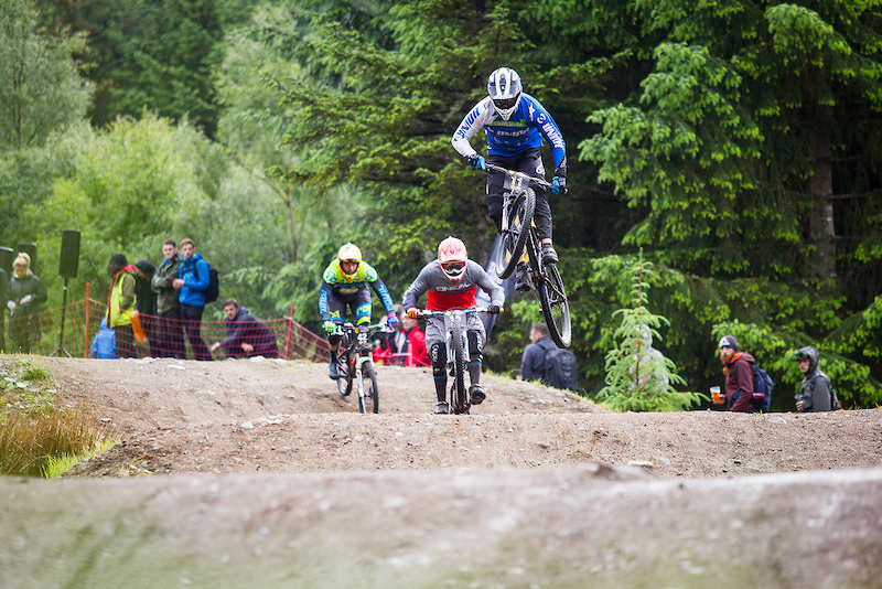 Open practice and racing during round 3 of The 2017 4X Pro Tour at Nevis Range Fort William Scotland United Kingdom on June 03 2017. Photo Charles A Robertson