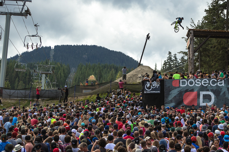 WHISTLER CANADA - AUGUST 21 on August 21 2016 at Crankworx in Whistler British Columbia Canada. Photo by Clint Trahan Crankworx