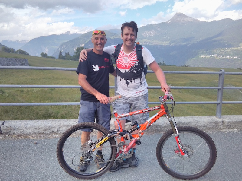 With Corrado Herin ar his home in the Italian alps and the battlehorse he rode to get the title in 1997