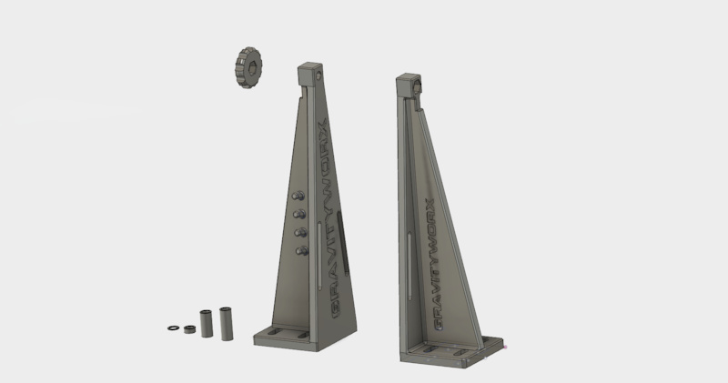 Here s an interesting project and one I can give away. I ve had this idea for a 3d printable truing stand for a couple weeks now. Because it s printable and stupid simple my boss is letting me give it away as a public domain .stl file for anyone who wants to print it. All I ask is if it makes you money cut me in bro