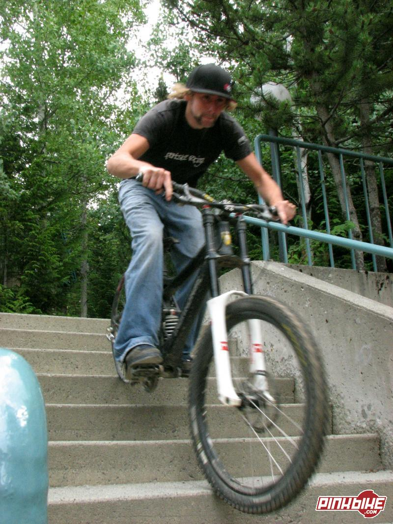 Hucking stairs on the rest day