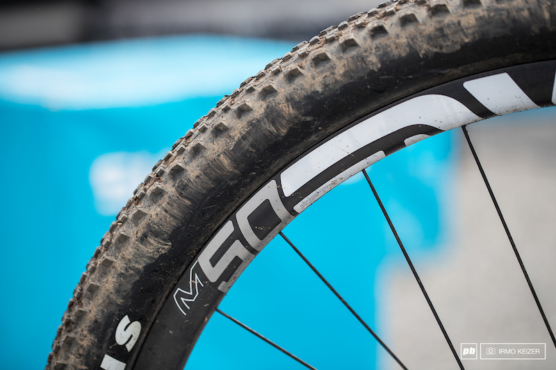 ENVE M60 rims with Maxxis rubber.