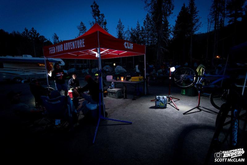 Bike prep the night before the race.
