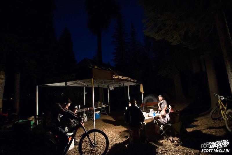 Camp vibes at the Santa Cruz Bicycles compound.