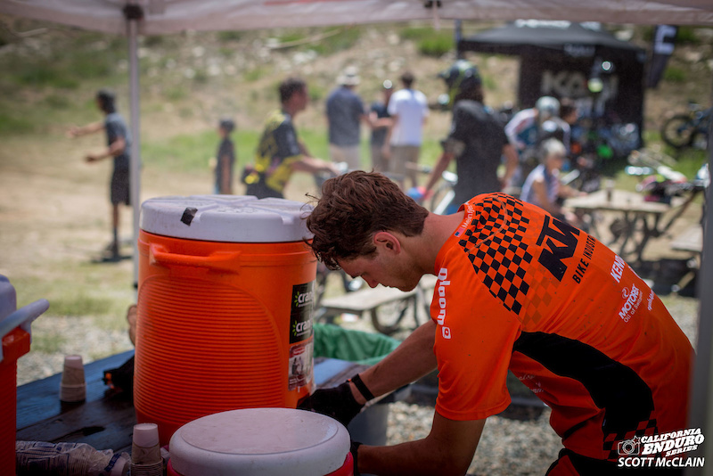 Ian Odom The Path refuels on Cranked Naturals between stages.