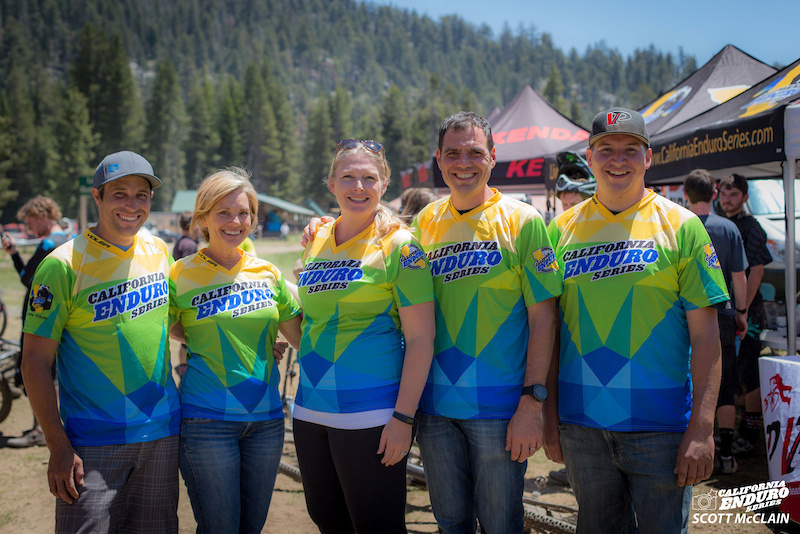 Team CES shows off the brand new series jerseys provided by Voler. Left to right Josh Baker Michele Charboneau Megan Gemelos Steve Gemelos and Justin Beck. Learn more and order yours here. Trail and XC styles available. A percentage of the proceeds benefits CES a 501 c 3 non-profit organization.