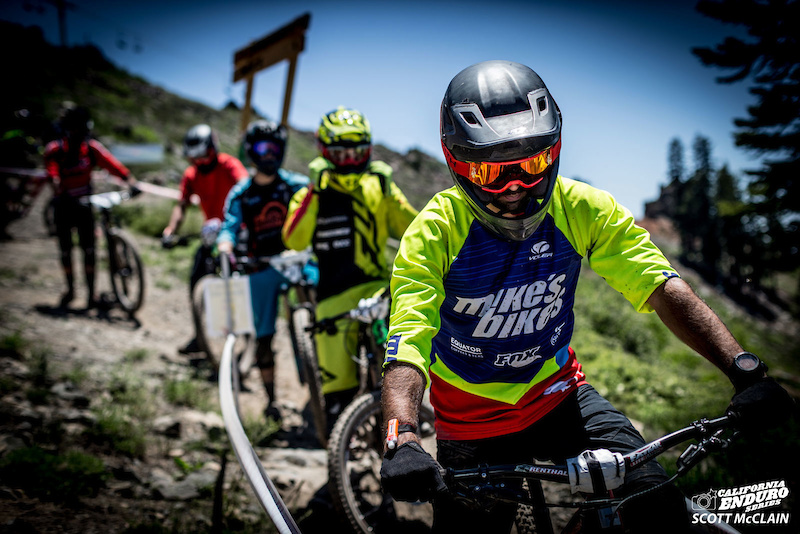 Zach Petersen Mike s Bikes hungry for more gnar at the top of Stage 4.