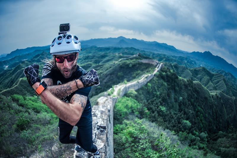 Mountain biking on the Great Wall of China