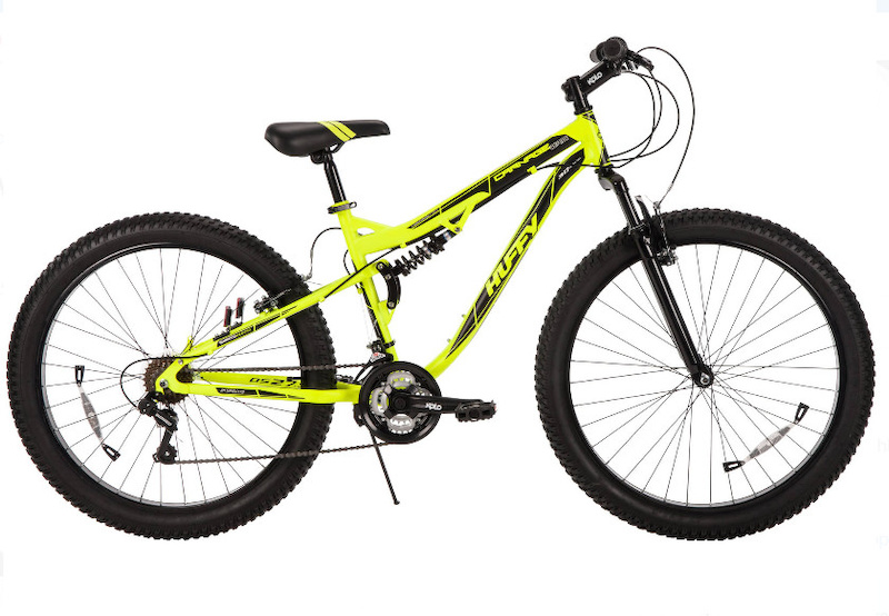 27.5 Huffy Men s 3.0 Carnage Mid-Fat Plus Tire Mountain Bike Volt Yellow at Walmart 179.99