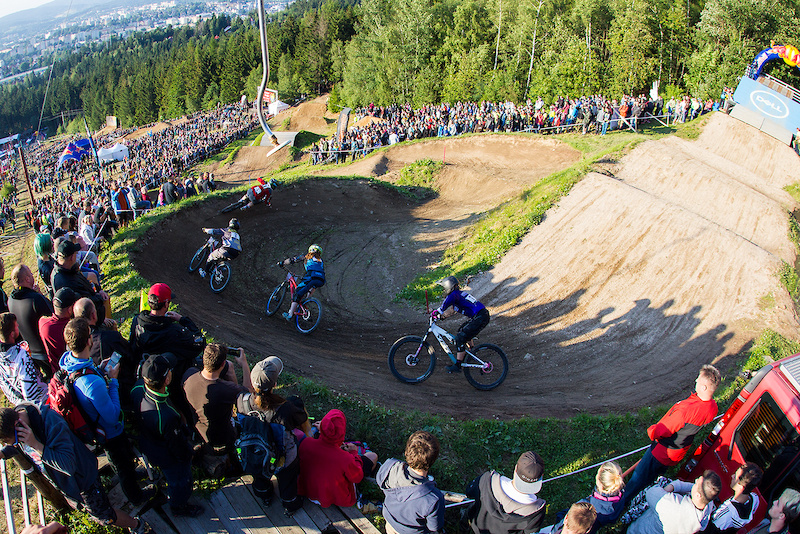Finals and podiums during round 4 of the 2017 4X Pro Tour at JBC Bike Park Jablonec Scotland Czech Republic on July 15 2017. Photo Charles A Robertson