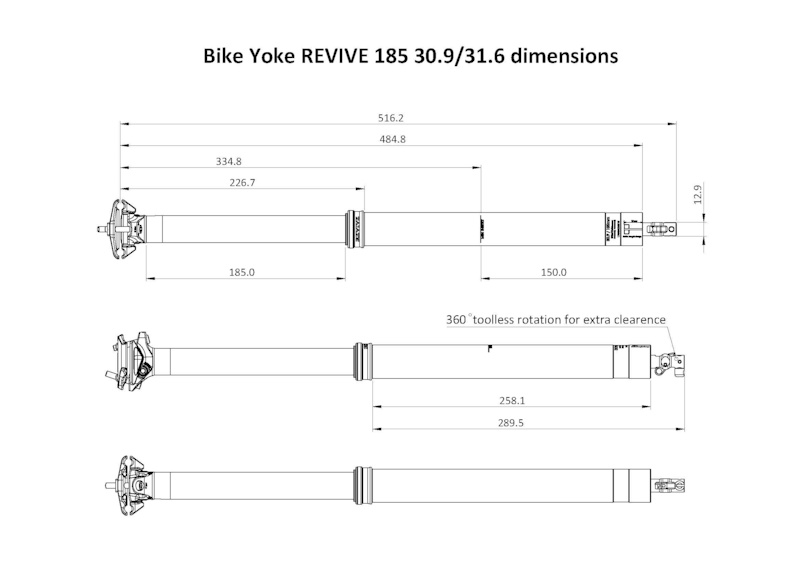 REVIVE 185 sizing