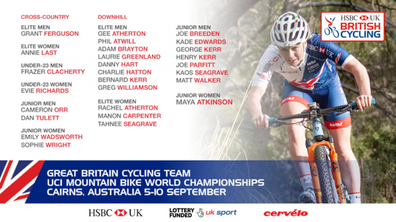 GB mtb team for World Champs 2017. Great Britain Cycling Team for UCI ... 85a0d0ce1