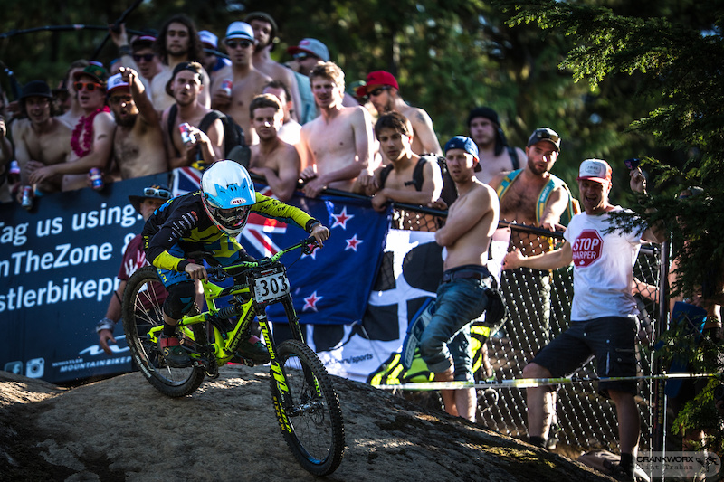 Casey Brown during the Canadian Open DH presented by iXS in Whislter British Columbia Photo by clint trahan crankworx