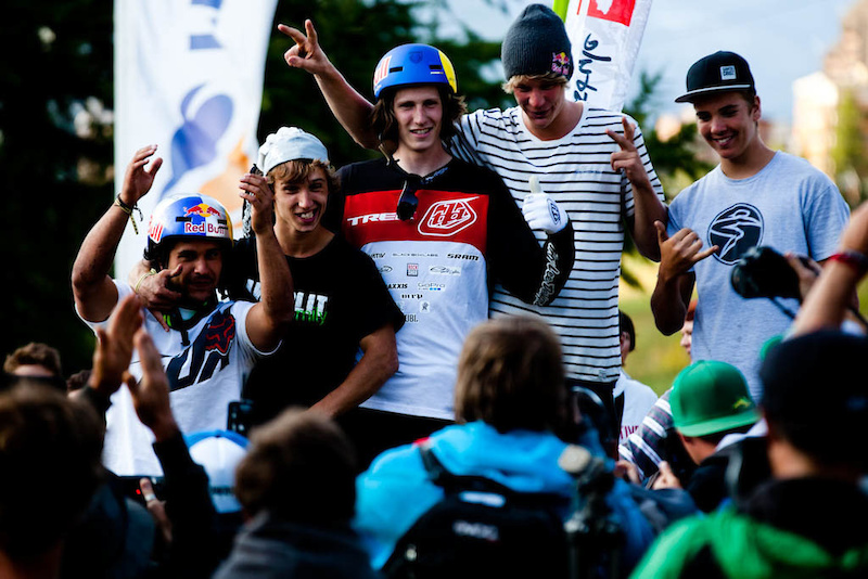 Back in the day... Crankworx Les 2 Alpes Slopestyle 2012 - Simon Nieborak photo
