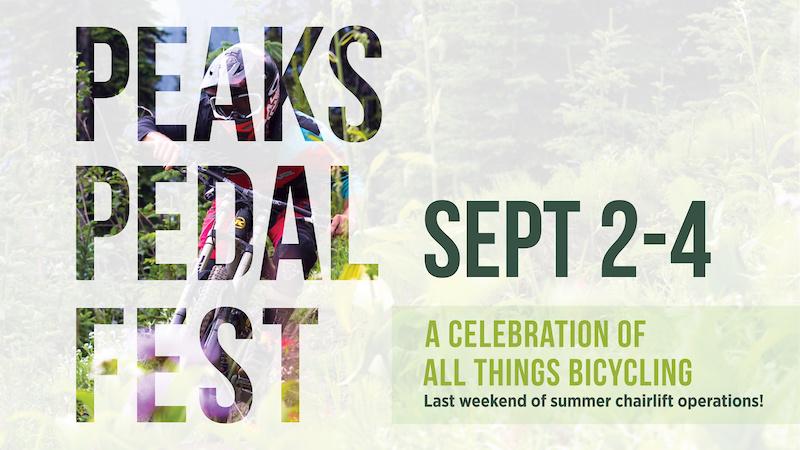Peaks Pedal Fest promo.