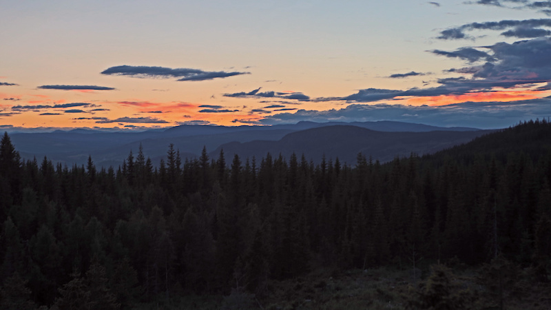 One of the beautiful Sunset s in Hafjell