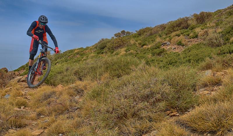 Un Especialista en Cross Country Corriendo Enduro