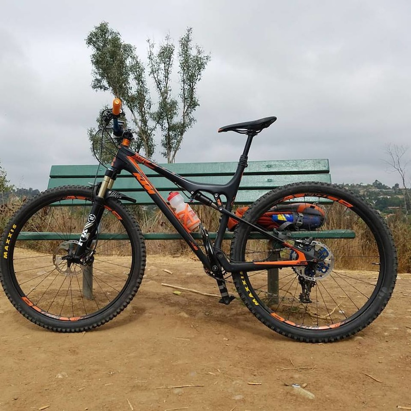 KTM Scarp Master on Peters Canyon Trail in Tustin Ca