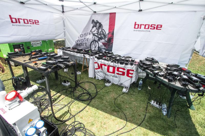 Mid race recharge.