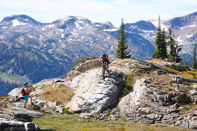 Sweet Skills coaching in the beautiful alpine trails around Sol Mountain.