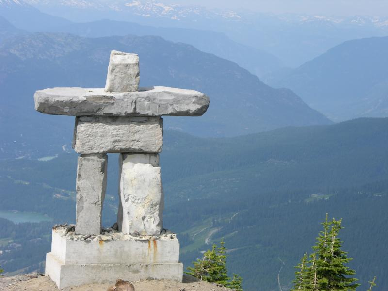 Inuktuk at the top of whistler Moutain