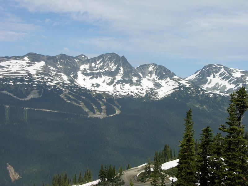 Outlook from the top of the whistler Mountains