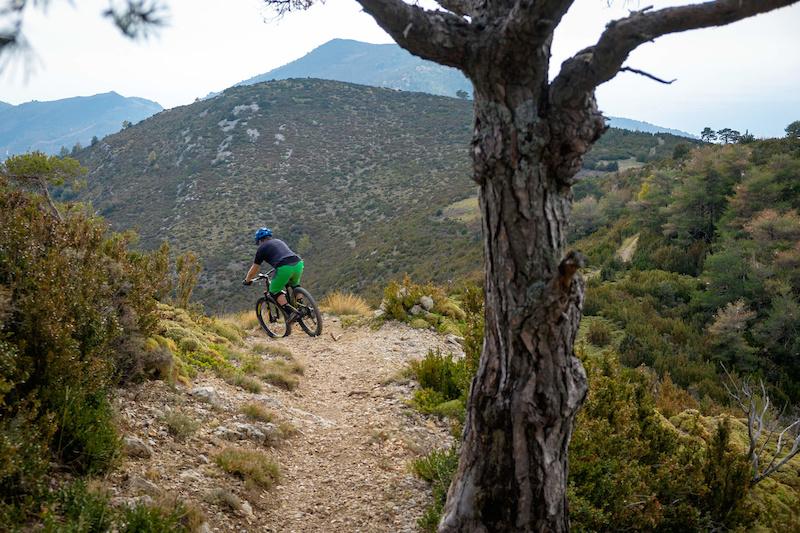 Down from Sierra del Aguila by Meson nuevo trail.