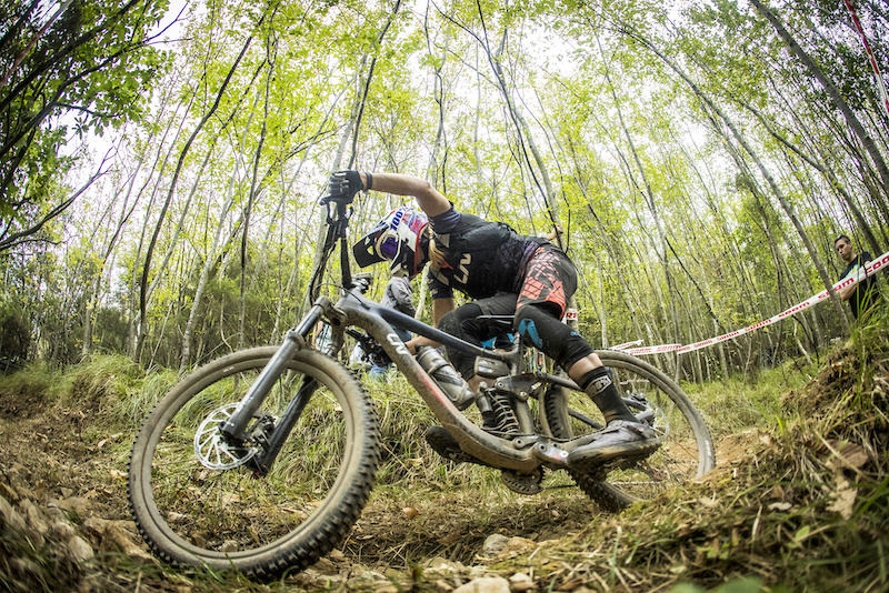 during the final round of the 2017 Enduro World Series at Finale Italy