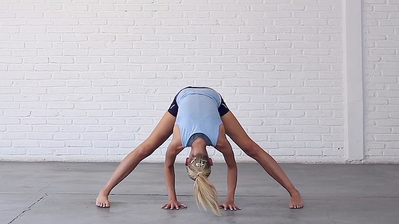 Wide-Leg Standing Forward Bend
