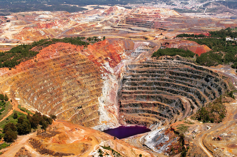 open pit mine in Andalusia