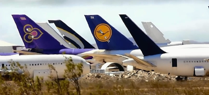 scrapping airliners in Mojave California