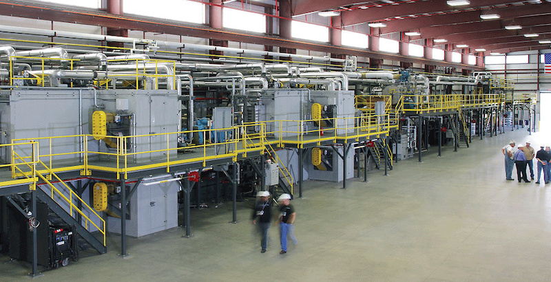 Oak Ridge Laboratory s carbon fiber manufacturing production line is almost 400-feet from end to end.