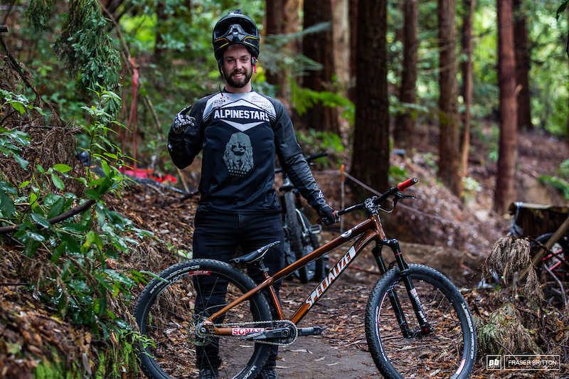 Nicholi Rogatkin and his Specialized P3 Hardtail.