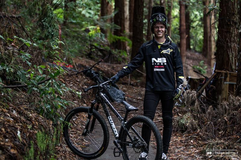 Max Fredriksson s Ns Bikes Dirt Decade hardtail.