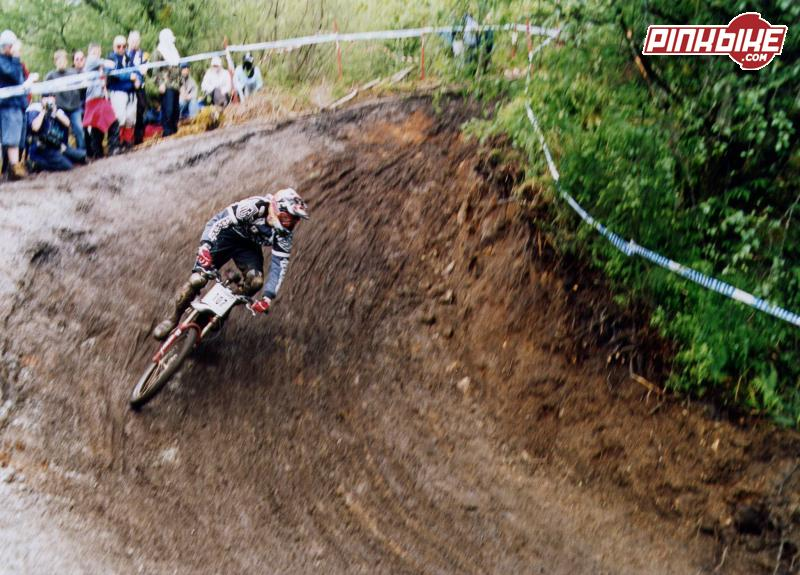 Stu railing a berm lower down the course! Great pic!!