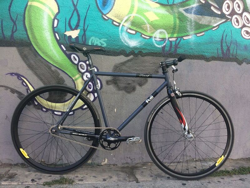 Fuji Track Bike, Fixed/Free, Carbon Fork,Velocity Rims For Sale