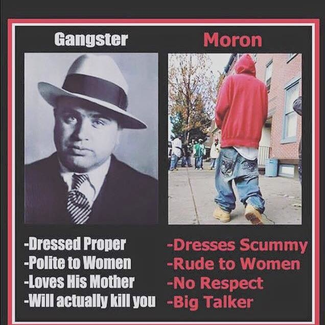 Gangster vs modern day Gangster