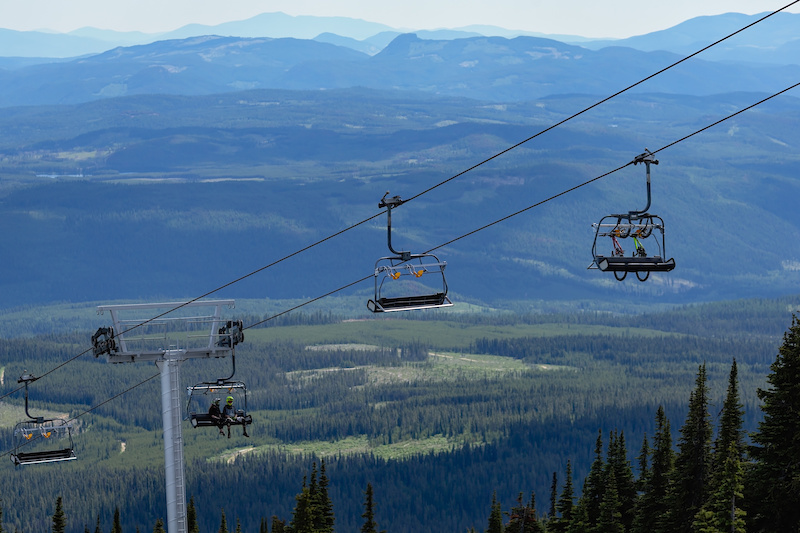 Bullet Lift view at Big White in British Columbia