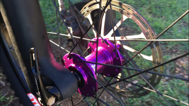 New hope pro 4 hubs in purple with stans flow rims. Minion 2.5 front and 3.5 aggressor rear. 1 ride old and the difference is amazing . Look, sound and ride great